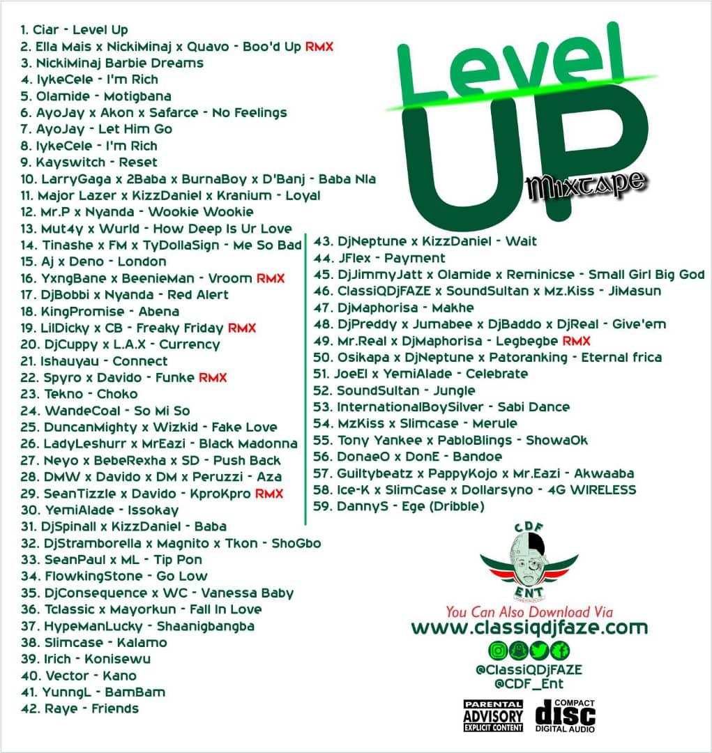 Classiq DJ Faze – Level Up Mixtape | DJANONLINE